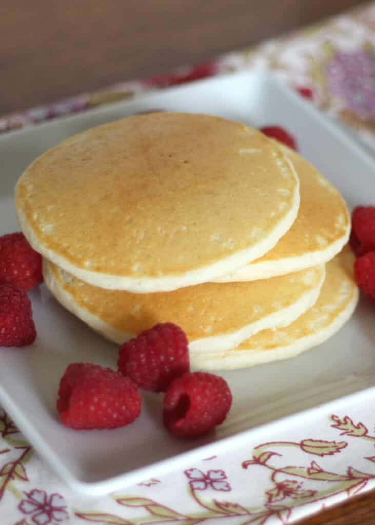 Light and Fluffy Gluten Free Pancakes - recipe by barefeetinthekitchen ...