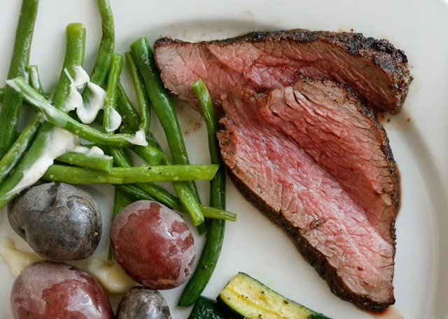 How To Grill Tri Tip Steak - get the recipe at barefeetinthekitchen.com