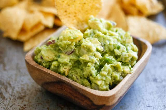 Spicy Guacamole that takes just ten minutes to make! - get the recipe at barefeetinthekitchen.com