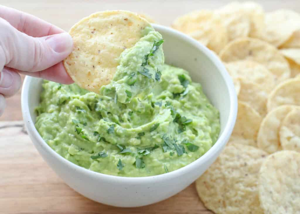 Simple homemade guacamole is a favorite with everyone