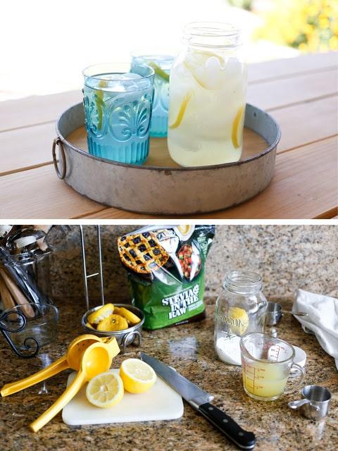 Sugar Free Fresh Squeezed Lemonade - get the recipe at barefeetinthekitchen.com