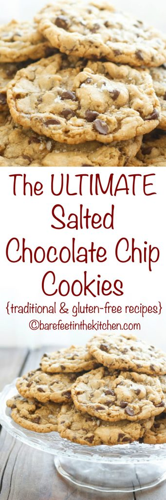 The Ultimate Salted Chocolate Chip Cookies - get the recipe at barefeetinthekitchen.com