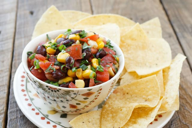 Black Bean Salsa - with canned, fresh, and frozen options - get the recipe at barefeetinthekitchen.com
