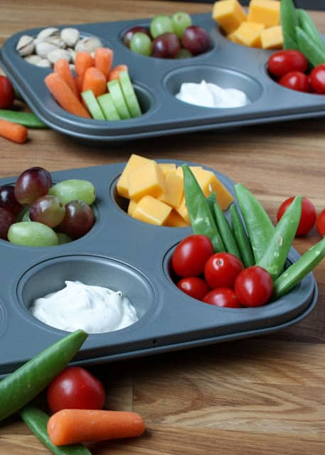 Snack Tray Lunches are always a hit! - recipes and tips at barefeetinthekitchen.com