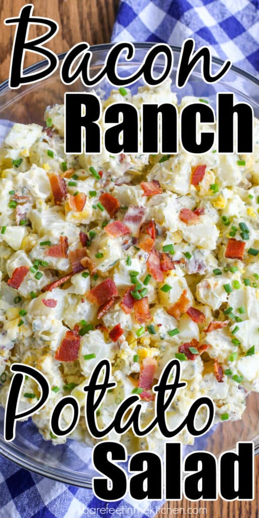 Bacon Ranch Potato Salad is a side dish that everyone loves.