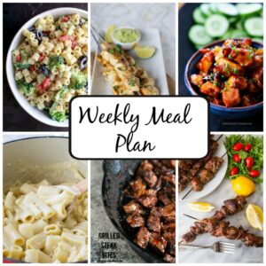 Weekly Meal Plan for July 20 – July 26
