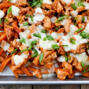 BBQ Chicken and Cheese Curd Fries