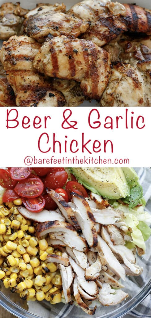 This Beer Chicken Marinade is an incredibly flavorful garlicky marinade that you're going to love!