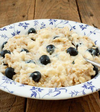 Blueberry Cheesecake Oatmeal