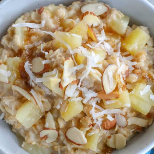 Every time I make this, I can hardly wait to dig in to this Hawaiian Oatmeal!