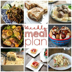 Weekly Meal Plan for August 3 – August 9