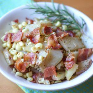 Rosemary Potato Skillet with Bacon and Fresh Corn