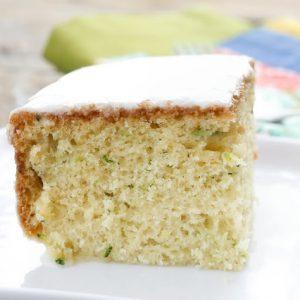 Zucchini Snack Cake with Orange Glaze