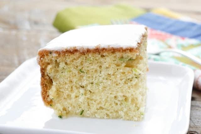 Zucchini Snack Cake - get the recipe at barefeetinthekitchen.com