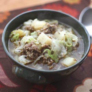 Cabbage, Potato and Sausage Soup