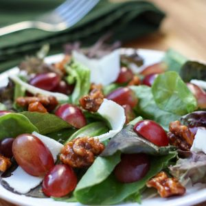 Grape and Candied Walnut Salad