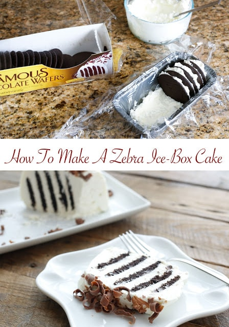 How to Make a Chocolate Ice-Box Cake {with just two ingredients!} - get the recipe at barefeetinthekitchen.com