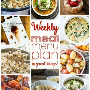 Weekly Meal Plan for October 26 – November 1