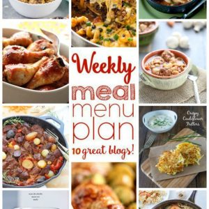 Weekly Meal Plan for October 12 – October 18