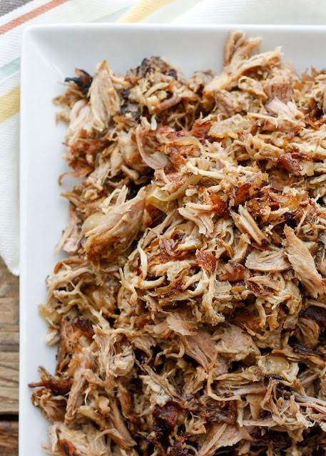 Crisp and Juicy Pork Carnitas {made in the crock-pot!} get the recipe at barefeetinthekitchen.com