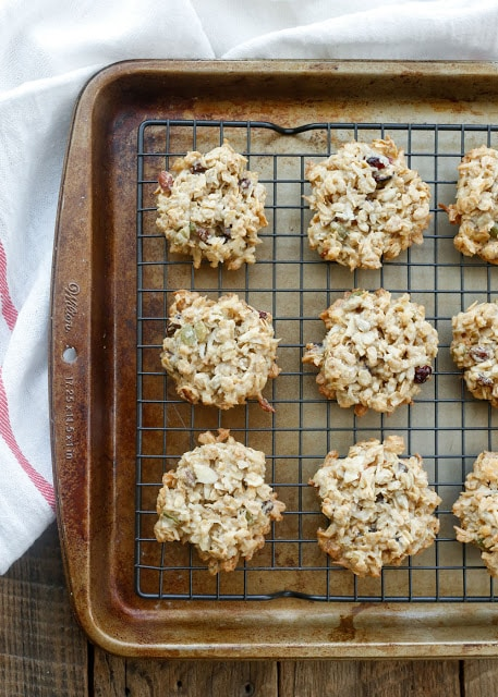 Chewy Muesli Breakfast Cookies are loaded with all kinds of deliciousness! - get the recipe at barefeetinthekitchen.com