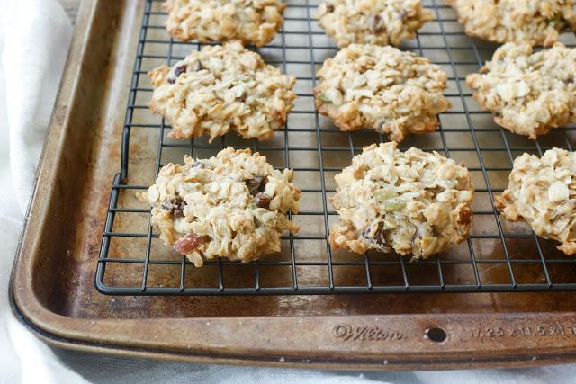 Muesli Breakfast Cookies - get the recipe at barefeetinthekitchen.com