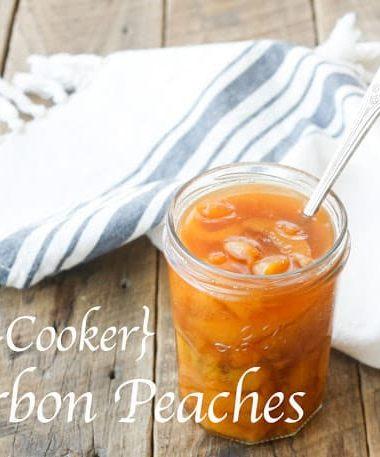 {Slow Cooker} Bourbon Peaches