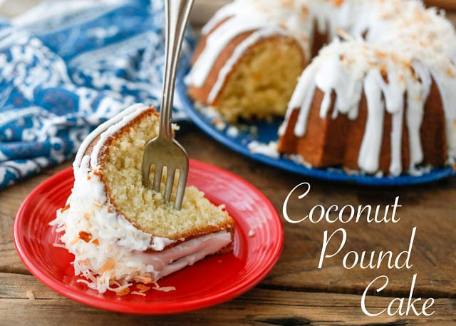 The BEST Coconut Pound Cake - get the recipe at barefeetinthekitchen.com