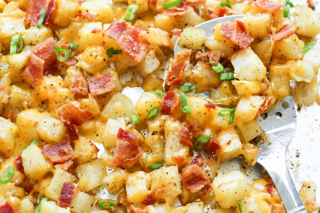 Crispy Cheese Potatoes with Bacon