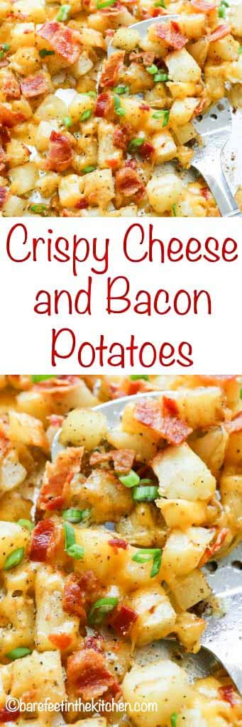 Crispy Cheese Potatoes with Bacon are a hit with any meal.