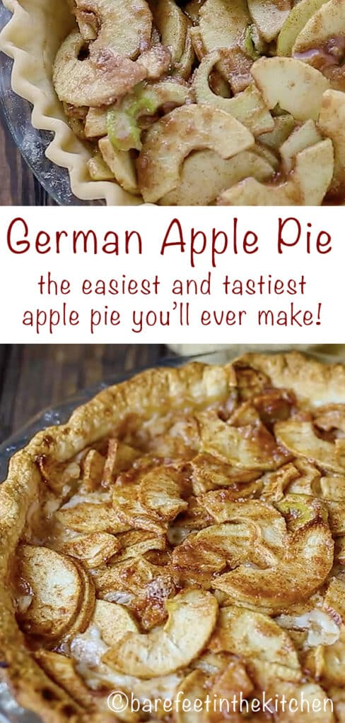 German Apple Pie really is the easiest and tastiest apple pie you'll ever make! get the recipe at barefeetinthekitchen.com
