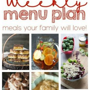 Weekly Meal Plan for January 25 – January 31