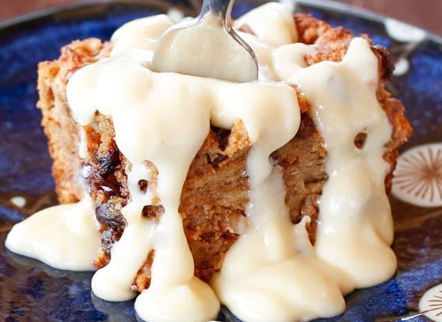Kahlua Cream Sauce for bread pudding is a dreamy dessert!