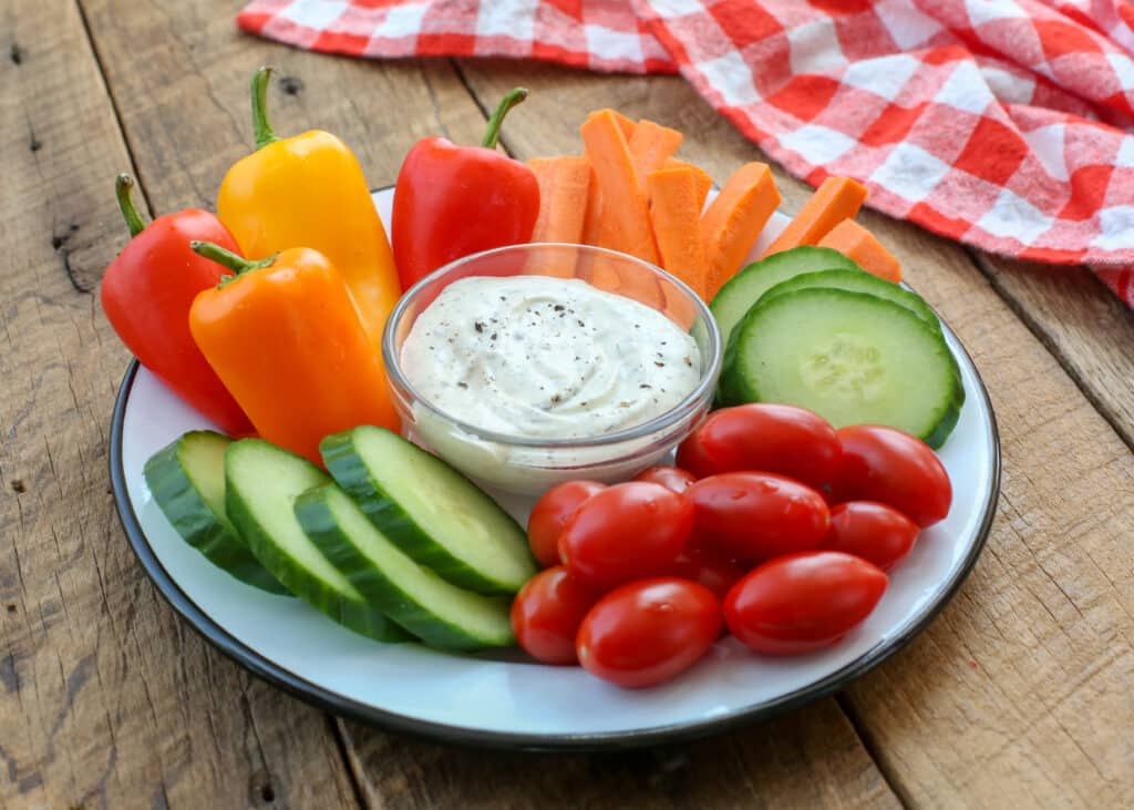 Tangy homemade ranch dip tastes so much better than anything you can buy.