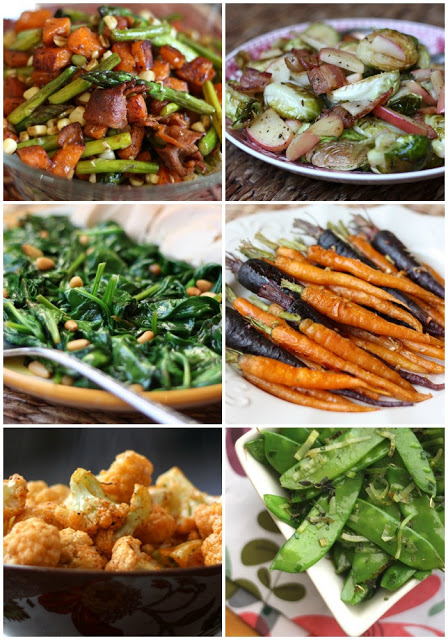 A bunch of different types of food on a plate, with Salad and Green bean