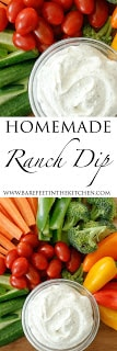 Homemade Ranch Dip made from scratch in just minutes - get the recipe at barefeetinthekitchen.com