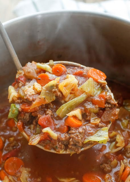 Hearty Italian Vegetable Beef Soup {Barefeet in the Kitchen}