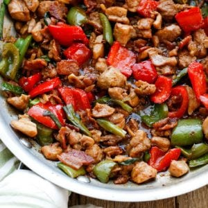 Spicy Chicken and Bacon Stir Fry