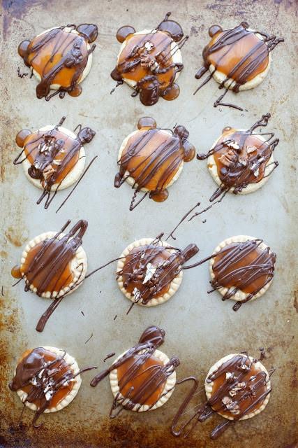 Turtle Shortbread Cookies - get the recipe at barefeetinthekitchen.com