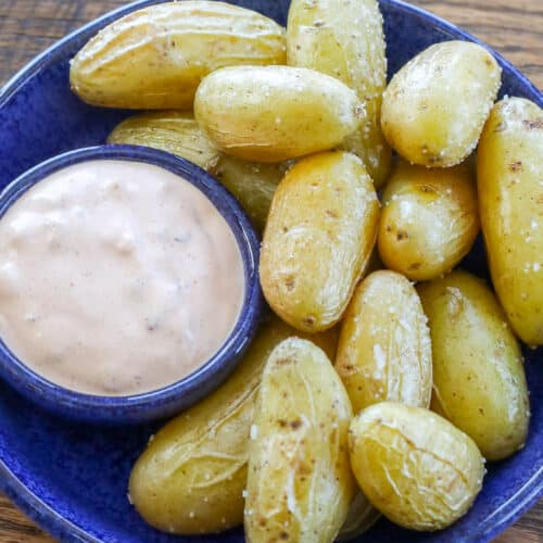 Roasted Fingerling Potatoes are immensely snackable!