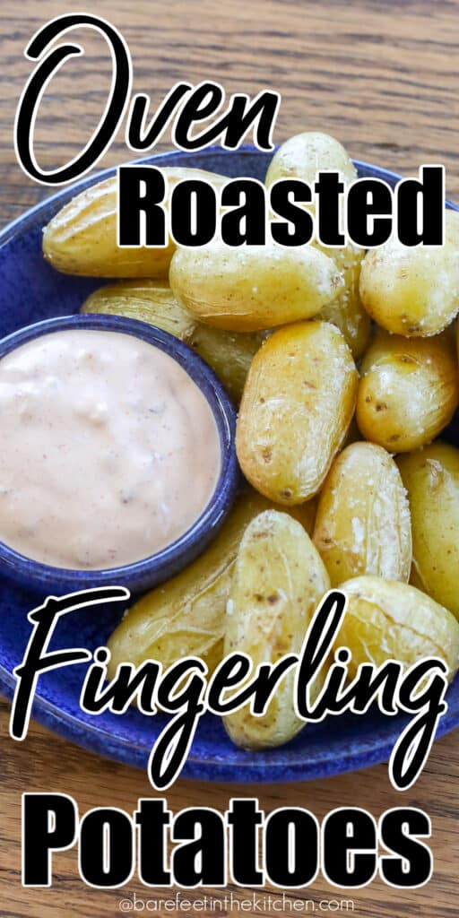 Oven Roasted Fingerling Potatoes with Chipotle Garlic Dipping Sauce