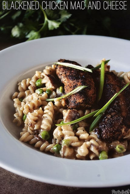 Blackened Chicken Mac and Cheese {Girl Carnivore}