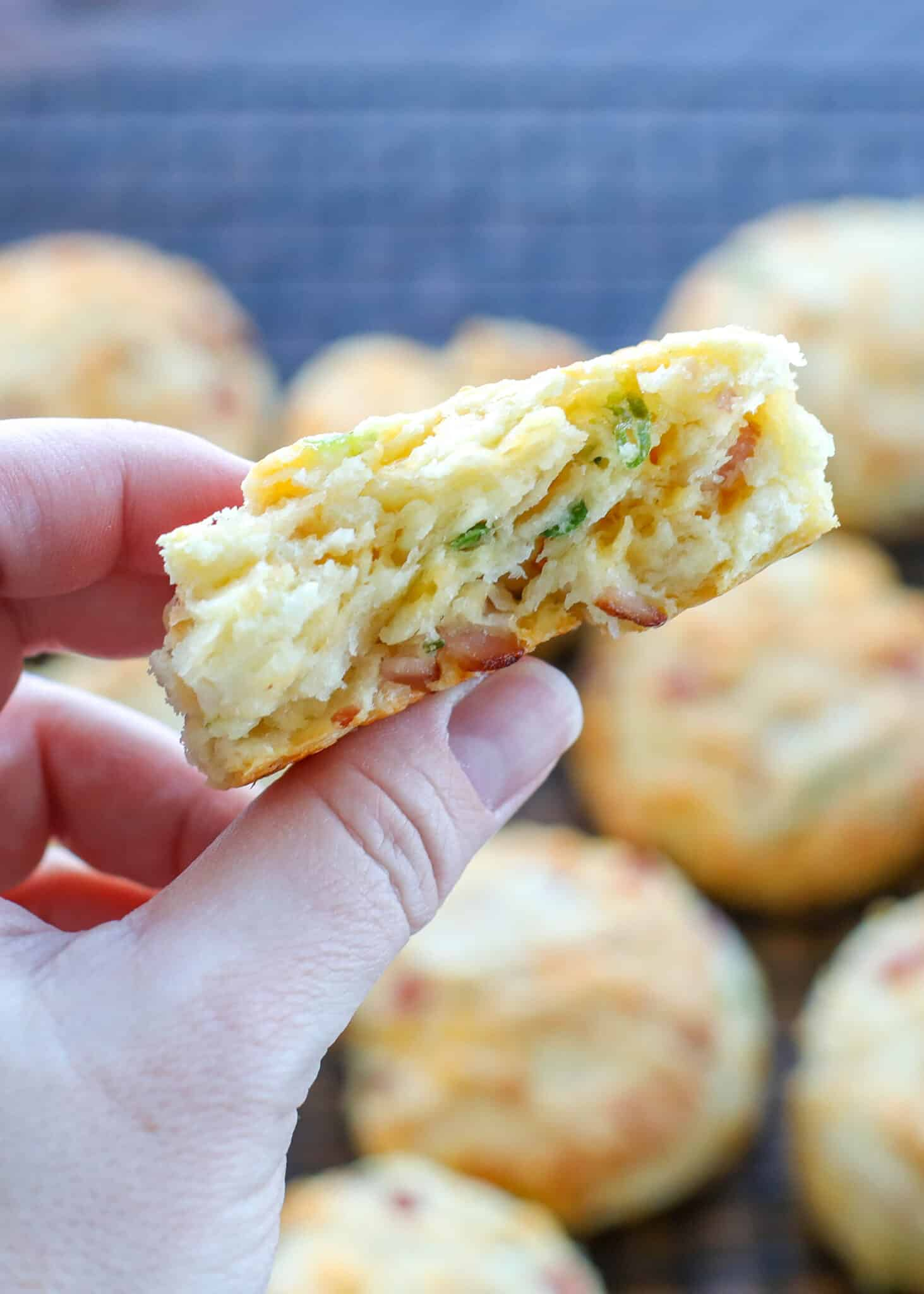Fluffy Biscuits with Ham and Cheese