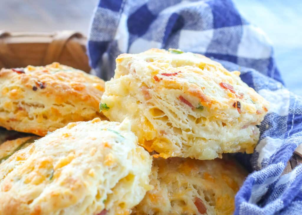 No one can resist these buttery Ham and Cheese Biscuits