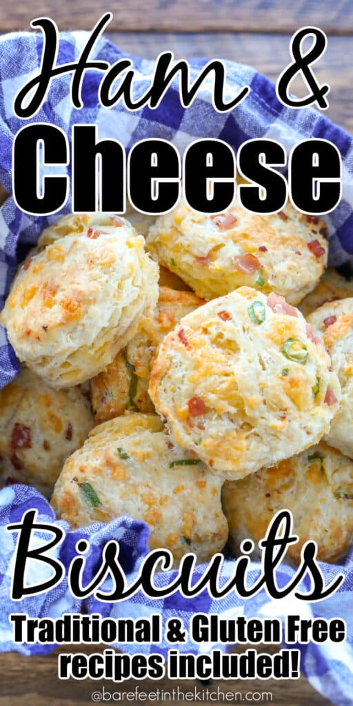 Cheesy Biscuits with Ham are a kid favorite!