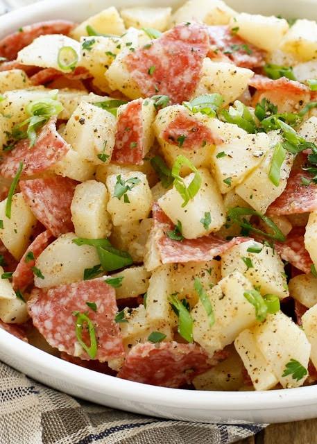 Warm Italian Potato Salad Recipe