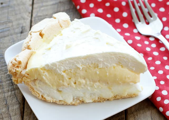 Lemon Angel Pie Recipe and Tips for making a Meringue Pie Crust! (It's crazy easy!!) recipe at barefeetinthekitchen.com