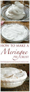 How To Make A Meringue Pie Crust in just minutes! (It's EASY!) get the recipe at barefeetinthekitchen.com