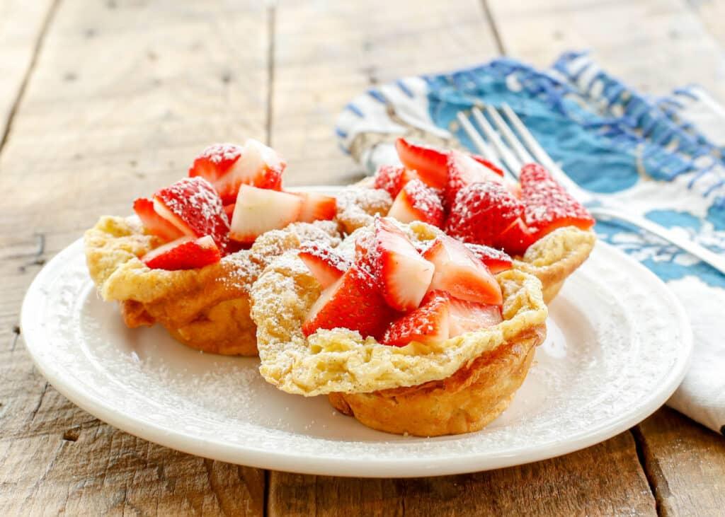 Miniature German Pancakes - get the recipe at barefeetinthekitchen.com