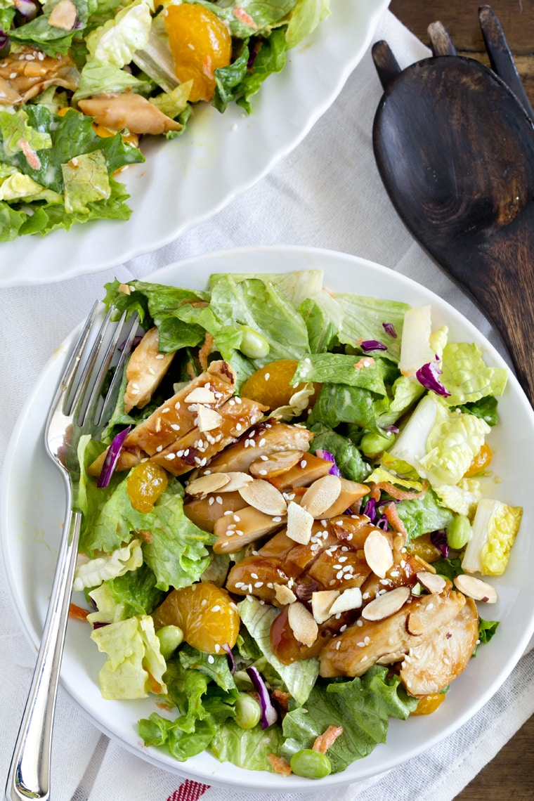 Teriyaki Chicken Salad {Yellow Bliss Road}